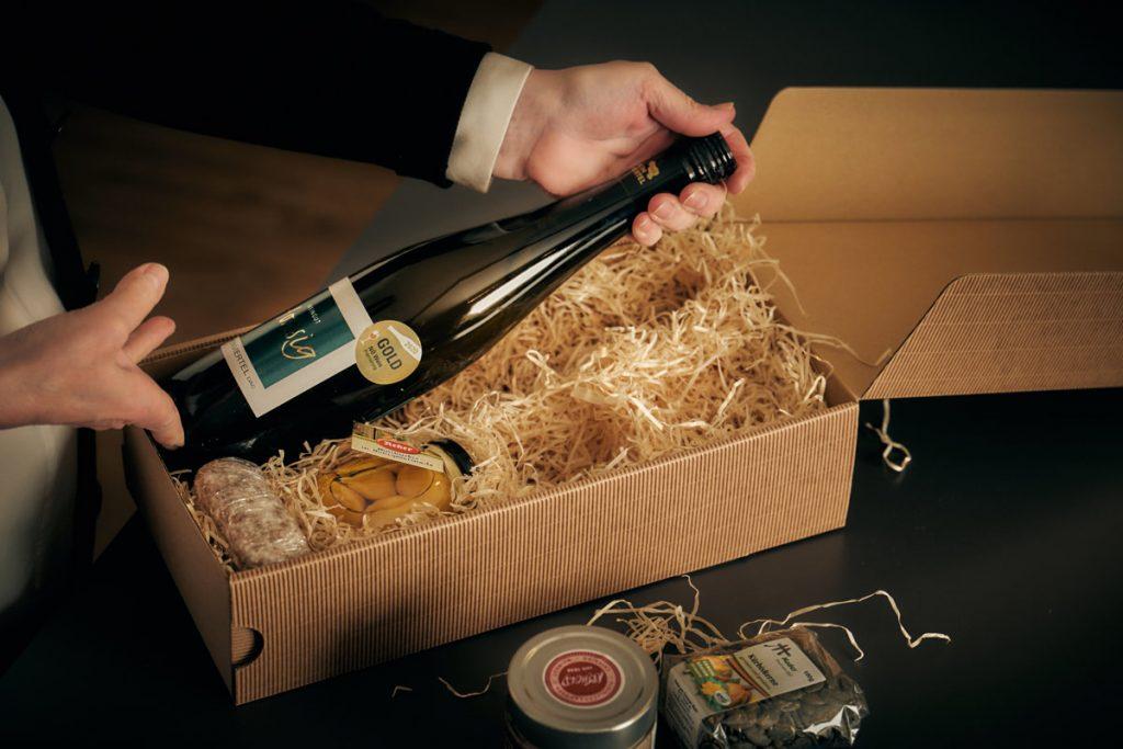 Erstellung Genussgeschenke WeinIdeenHonsig