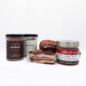 Luftgetrocknete Spezialitäten und Pasteten von den Fleischereien Arthold und Hofmann